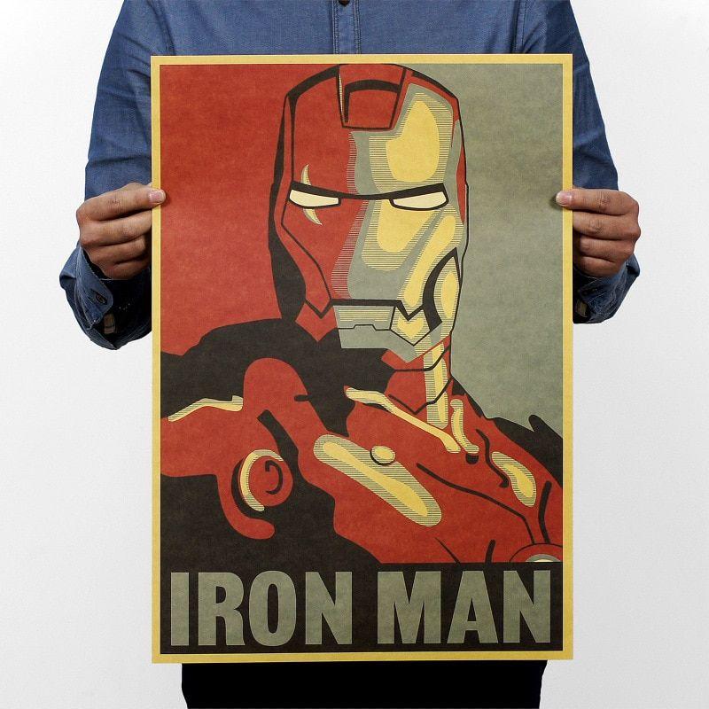 Печать постеров супергероев