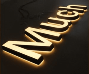 световые буквы с контражуром