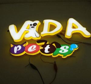 световые буквы с фотопечатью